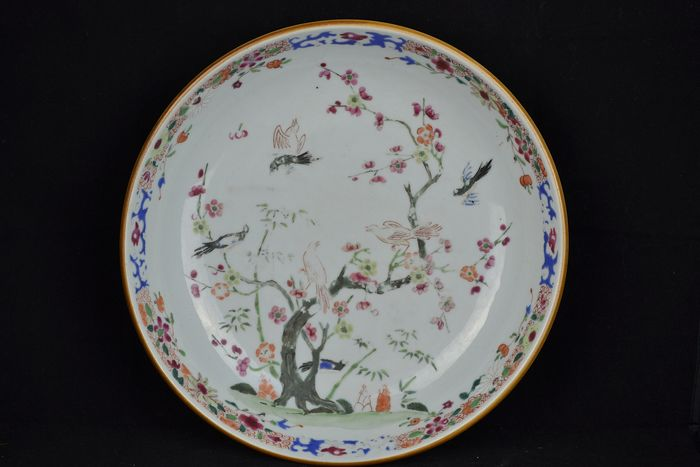 Plate (1) - Famille rose - Porcelain - China - 18th century