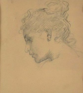 Ludwig Knaus (1829-1910) - Woman portrait