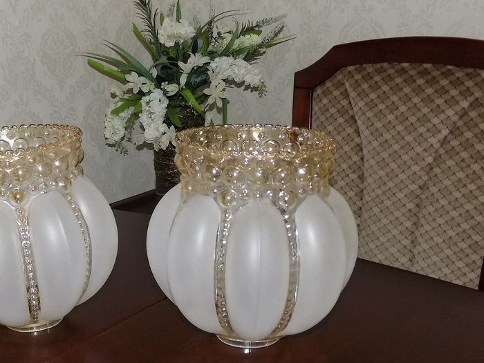 Glass bubbles shade (2) - Mid-Century Modern - Glass