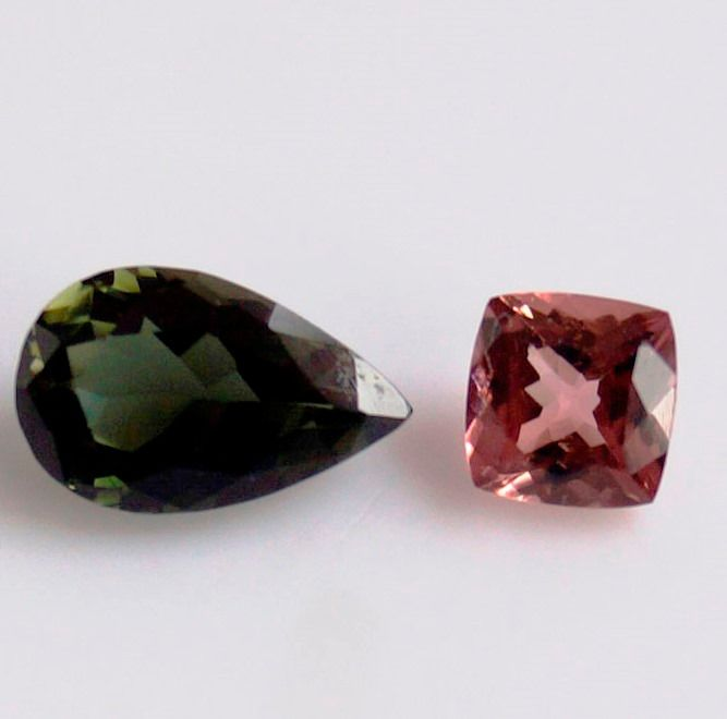 2 pcs  Tormalina - 3.20 ct