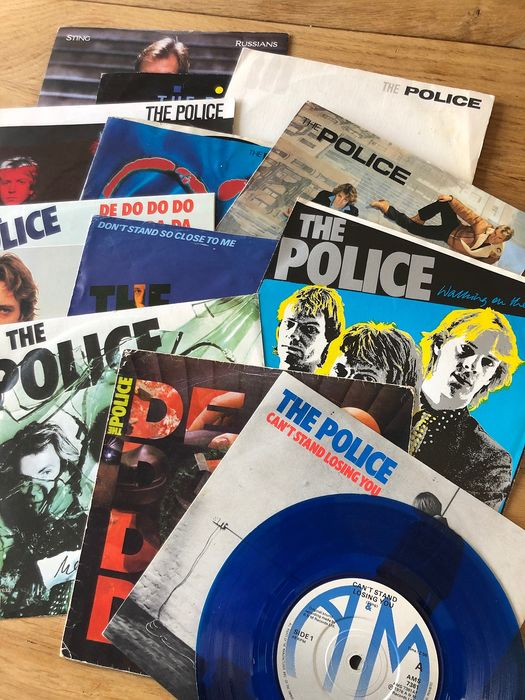 Police, Police & Related, Sting - Collection of 12 singles from various countries incl. coloured vinyl - Multiple titles - 45 rpm Single - 1978/1986