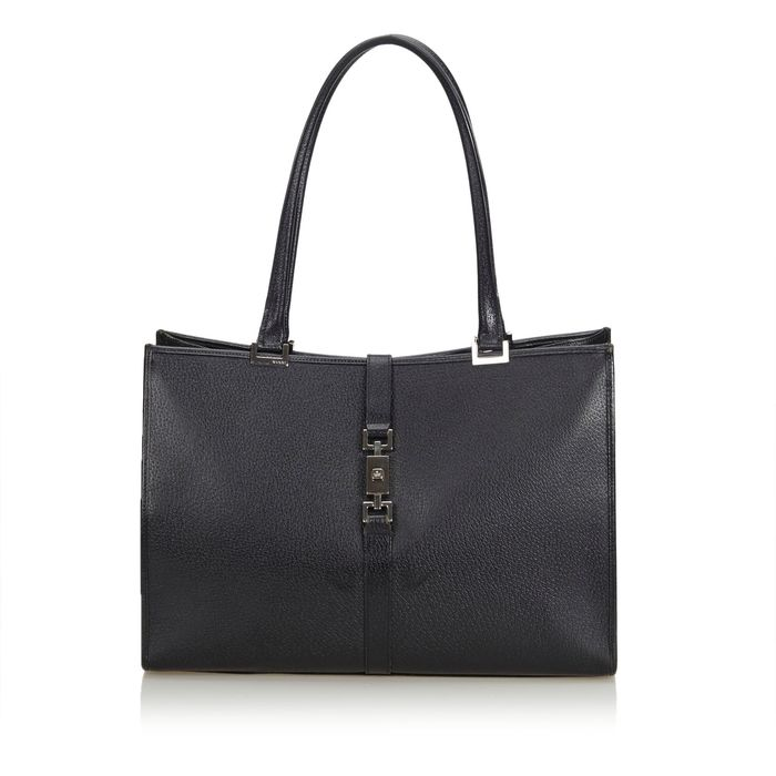 Gucci - Leather Jackie Tote Tote bag