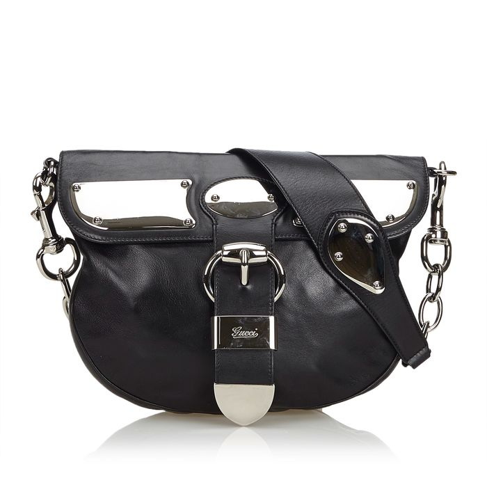 Gucci - Leather Romy Messenger Bag Bolso de bandolera
