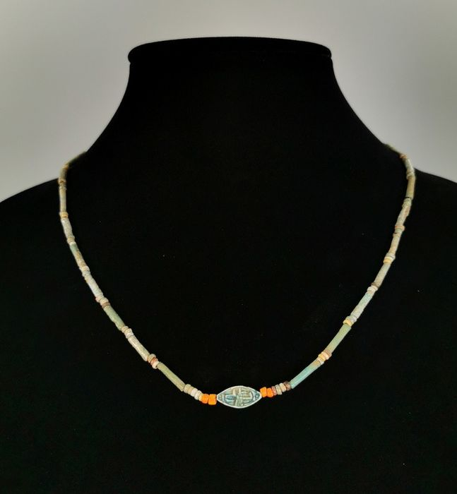 Ancient Egyptian Faience Wearable Necklace