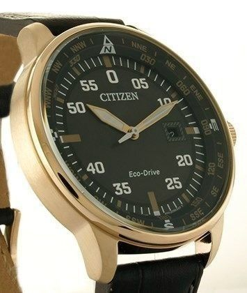 Citizen - Collezione AVIATOR Date - Placcato GOLD Rosè 18K - Eco Drive - BM7539 - Heren - 2020