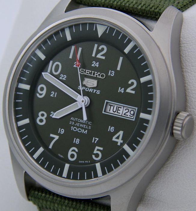 "Seiko - Automatic 23 Jewels 100M Green - ""NO RESERVE PRICE"" - Homem - 2019"