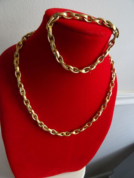 CLIORO - 18 kt. Yellow gold - Set of necklace + bracelet