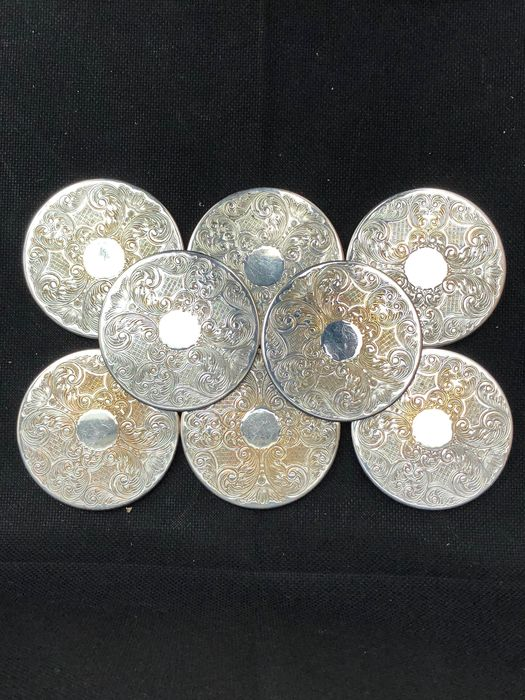 Coasters (8) - Silverplate