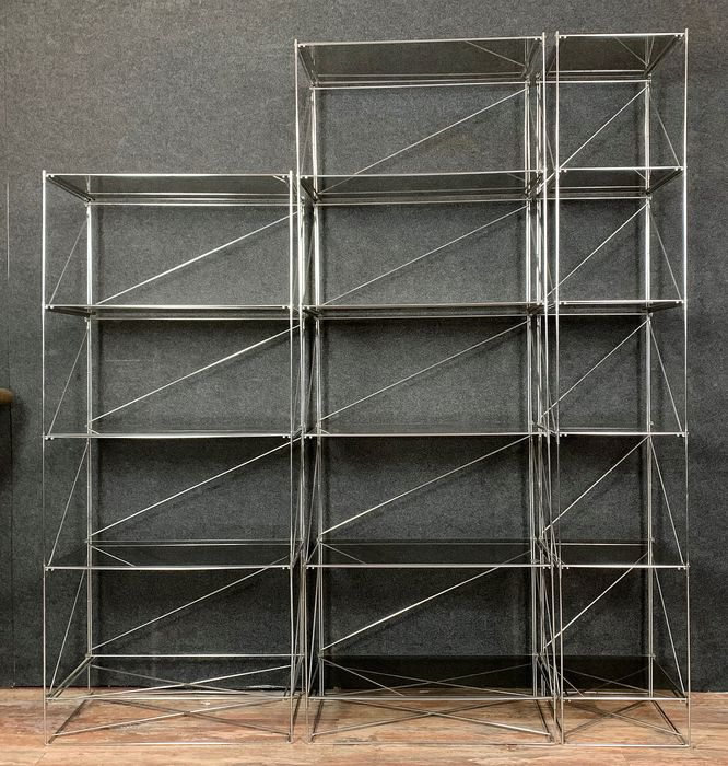 Max Sauze - Superb group of 3 shelves 'Isocèle' by French artist Max Sauze - Isocéle