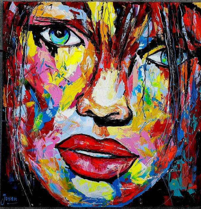 Jovan Srijemac - Abstract portrait , young woman