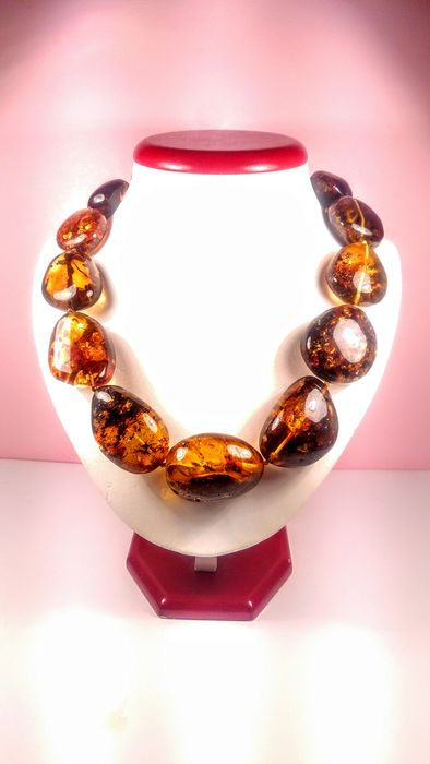 100% Genuine Massive  Baltic amber - Necklace - Natural (untreated)