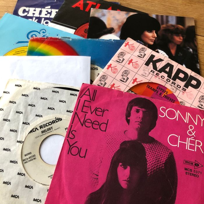 Cher / Sonny & Cher - Collection of 9 singles including promos - Multiple titles - 45 rpm Single - 1968/1991