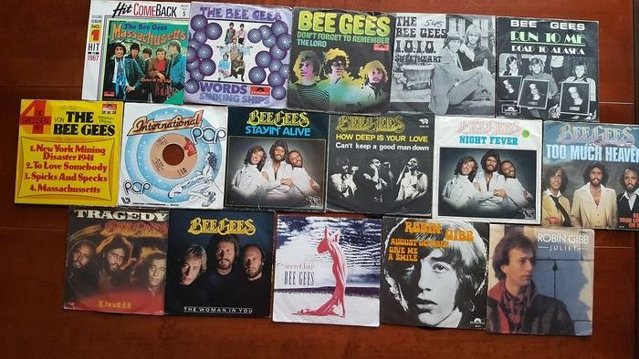 "Bee Gees and Related - Career overview 16 x 7"" singles - Multiple titles - 45 rpm Single - 1967/1991"