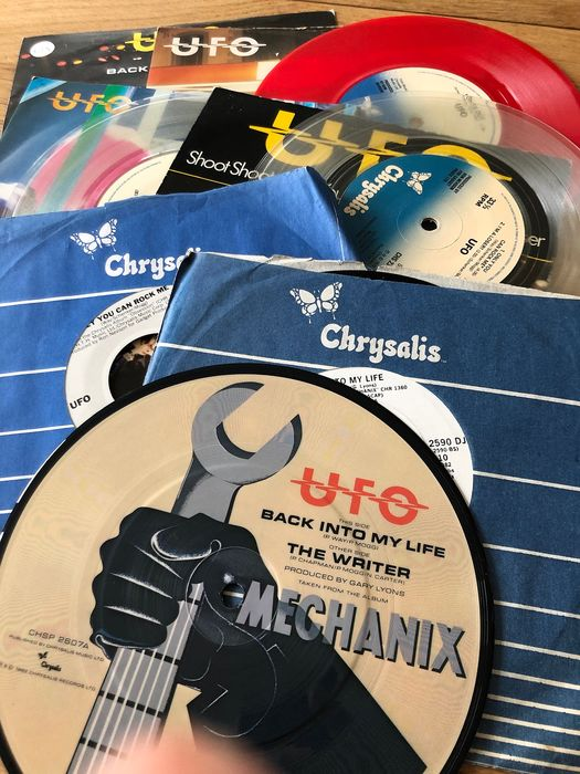 UFO - Collection of 7 singles by the heavy metal legends incl. coloured vinyl and promos - Multiple titles - 45 rpm Single - 1977/1982