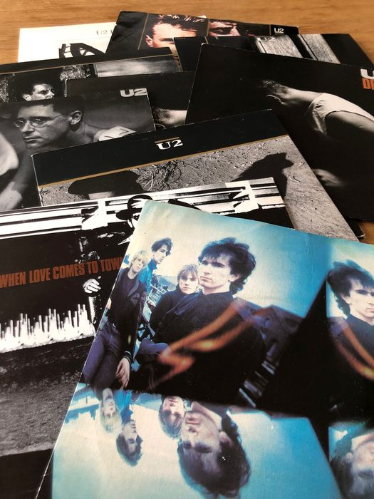 U2 - Collection of 10 singles in picture sleeve incl. doublepack - Différents titres - 45 rpm Single - 1981/1988