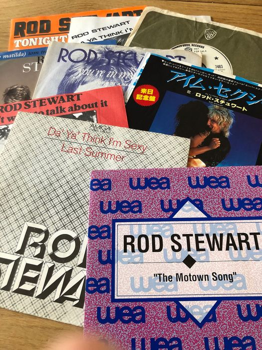 Rod Stewart & Related - Collection of 9 singles incl. promos and Japan pressing - Multiple titles - 45 rpm Single - 1971/1992