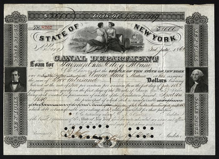 USA - State of New York, Canal Department - 1869