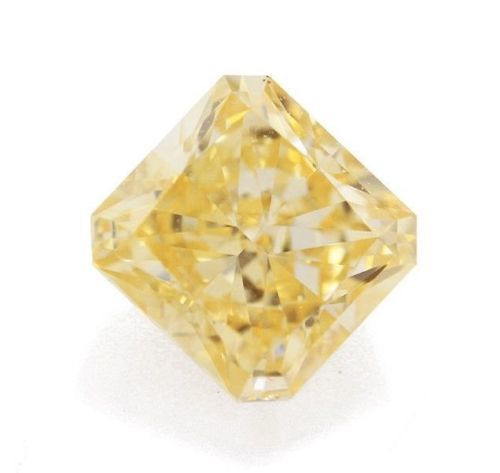 1 pcs Diamante - 0.36 ct - Radiante - fancy orange yellow - Non menzionato sul certificato