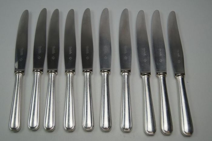 Christofle - Table knives and cheese or dessert knives (21) - Silverplate