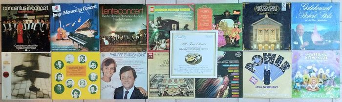 A lot of Classical Wagner Strauss Tchaikovsky Mozart Dvorak Bizet and others - Diverse artiesten - LPs - 1970/1990