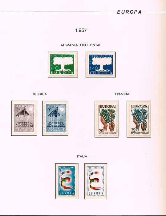 Europa thema - 1957/1965 - Europe-themed - Mounted on album pages