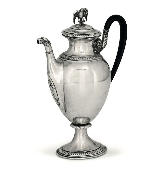 Antique Large Silver Coffee Pot - mid 19th century