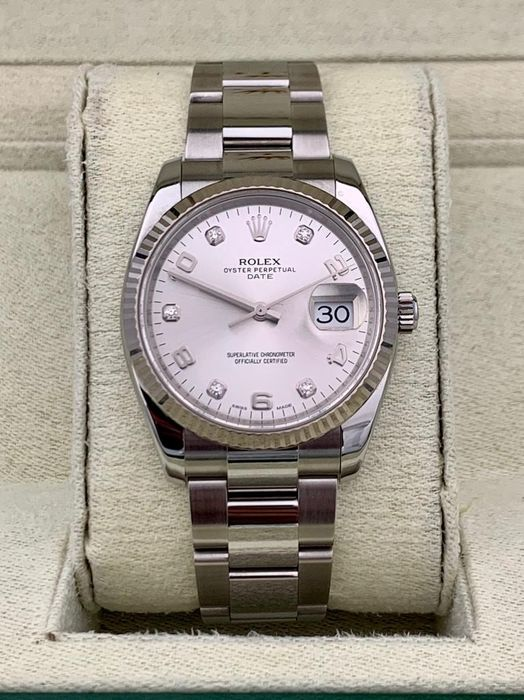 Rolex - Oyster Perpetual Date Diamond Dial  - 115234 - Unisex - 2011-nå