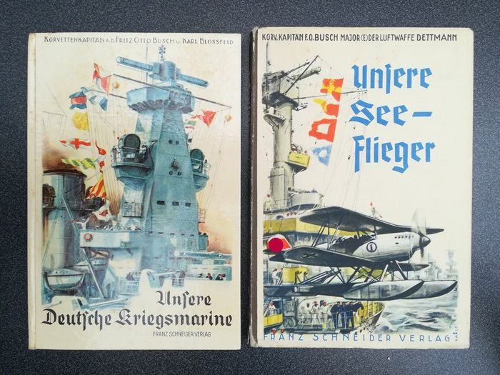 Germany - Kriegsmarine, Luftwaffe - Book, 2x Books Third Reich Our Seeflieger, Our German Navy