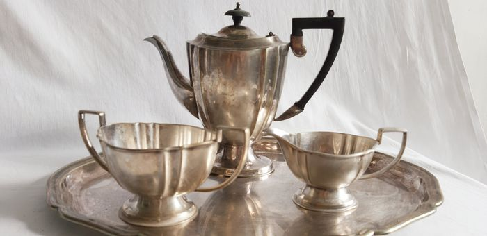 Chipandale EPNS - Silvered Coffee and Tea Service (4) - Art Deco - Silverplate