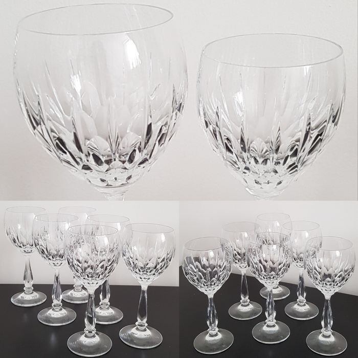 Schott Zwiesel, Modell PRESIDENT - 6x red wine glasses and 6x white wine glasses (12) - High quality lead crystal
