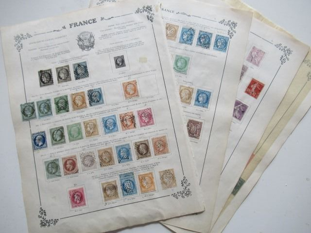 France 1849/1929 - Stamp collection including an advanced part of classics
