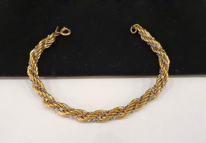 MONET gold plated - Two toned swirl Bracelet