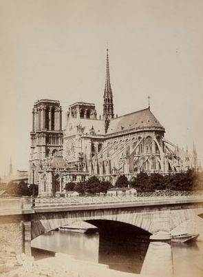 Unknown (XIX)  - 12 albumen prints of the Notre Dame in Paris
