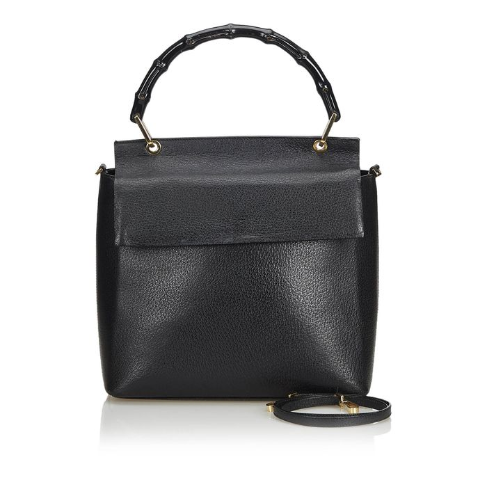 Gucci - Bamboo Leather Satchel Sacola