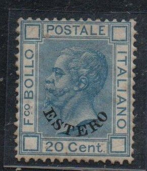 1874 - 20 cents azure with 'Estero' overprint - Sassone N. 5