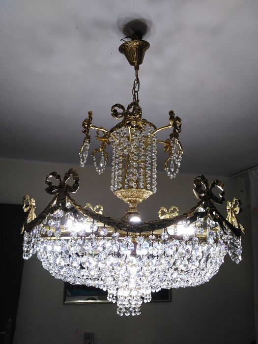 Ceiling lamp (1) - Bronze (gilt/silvered/patinated/cold painted)