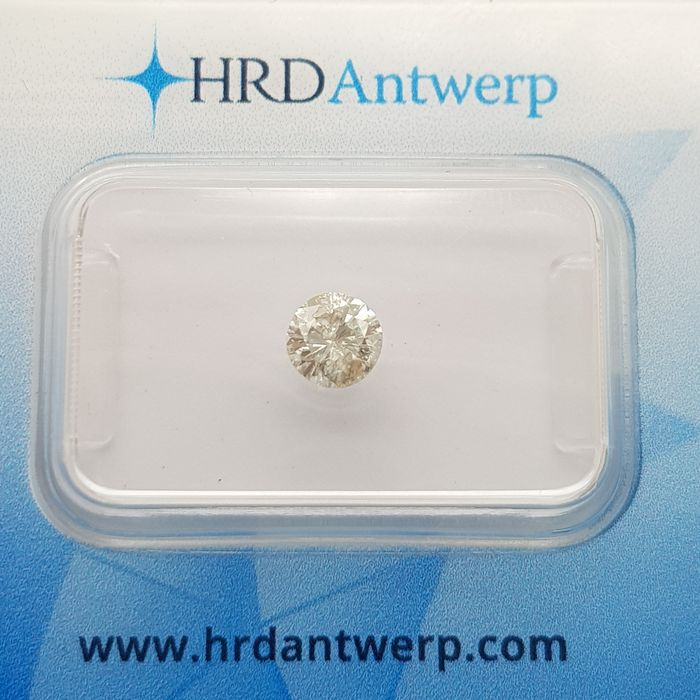 1 pcs Diamant - 0.49 ct - Brillant - I - P2