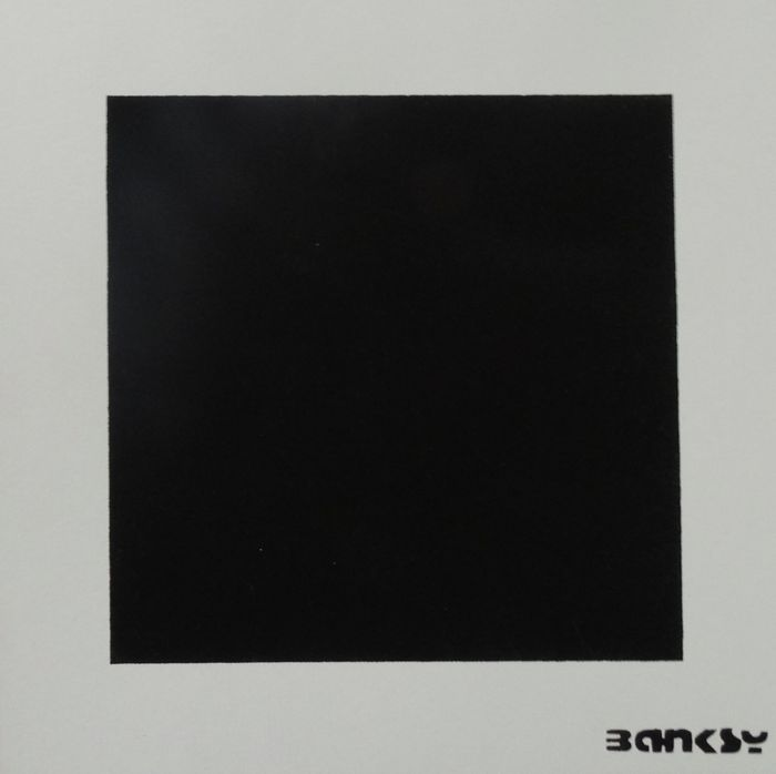 Not Not Banksy / STOT21stcplanB - Black Square with Black Square