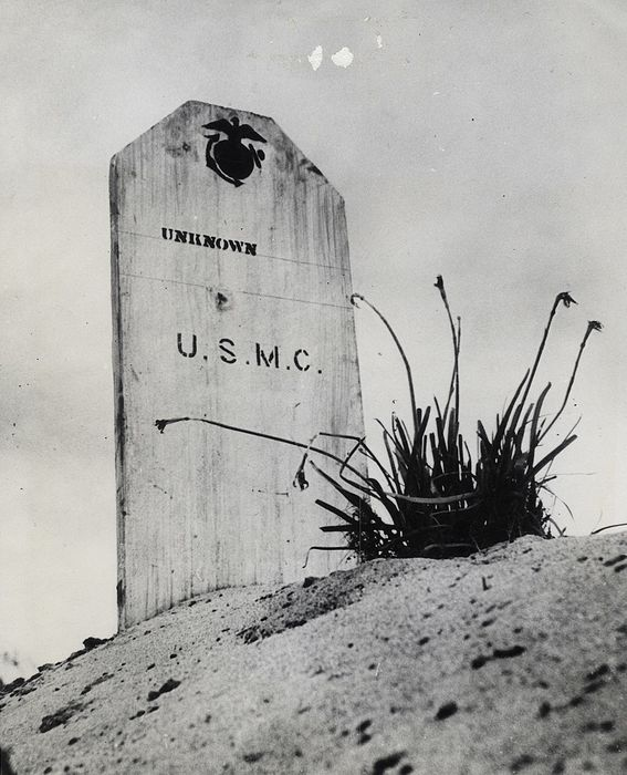 W. Eugene Smith (1918-1978) /LIFE/Associated Press - Grave of Unknown Soldier on Saipan, 1944