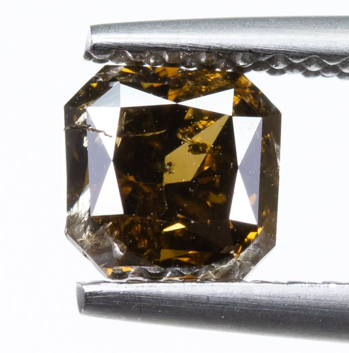 Diamond - 1.02 ct - Natural Fancy DEEP Yellowish Brown - I1  *NO RESERVE*