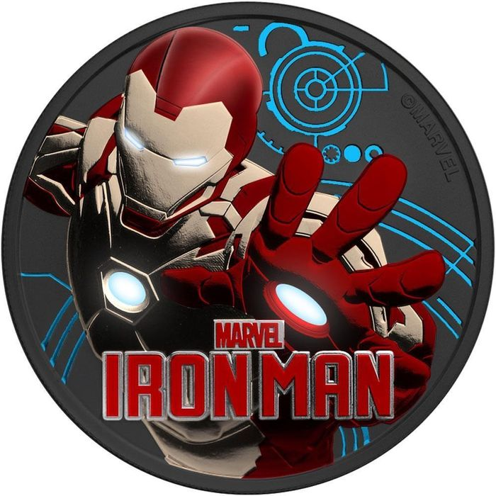 Tuvalu - 1  Dollar 2018 IRON MAN I Multi Metal Plated -  1 Oz - Zilver