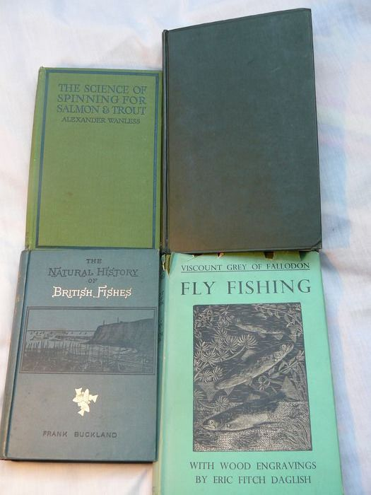 Buckland, Grey, Wiams, Wanless - Four books on Angling - 1892/1948
