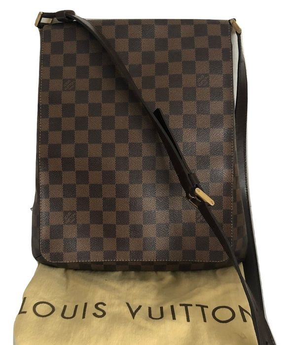 Louis Vuitton - Damier Ebene musette salsa GM Crossbody bag
