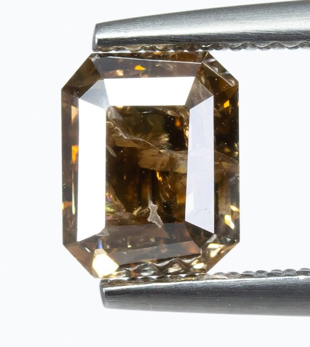 Diamond - 1.14 ct - Natural Fancy DEEP Yellowish Brown - I2  *NO RESERVE*