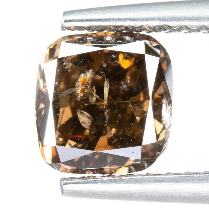 Diamond - 1.53 ct - Natural Fancy DEEP Orangy Brown - I2  *NO RESERVE*