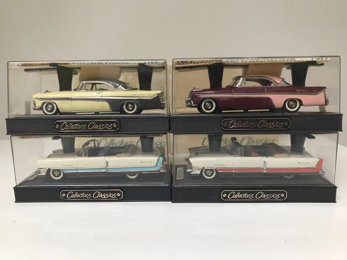 "Buby - 1:43 - Set of 4 Buby (Argentinian) Handbuilt Collector's Classics - ""One of a few"" American Cars"
