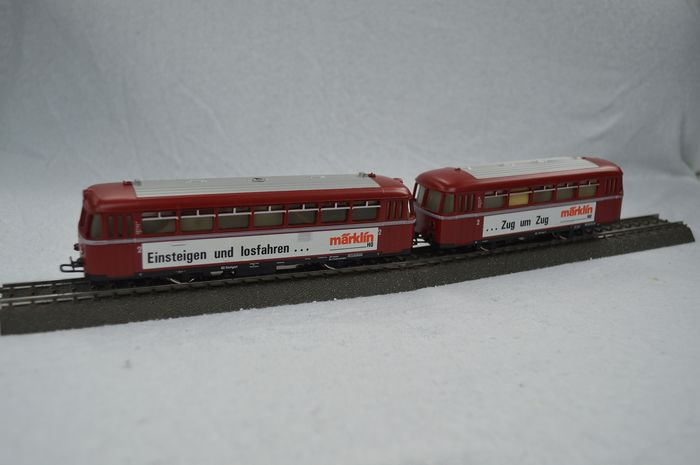 "Märklin H0 - 3016/4016 - Railcar - Rail bus with trailer ""Zug um Zug"" - DB"