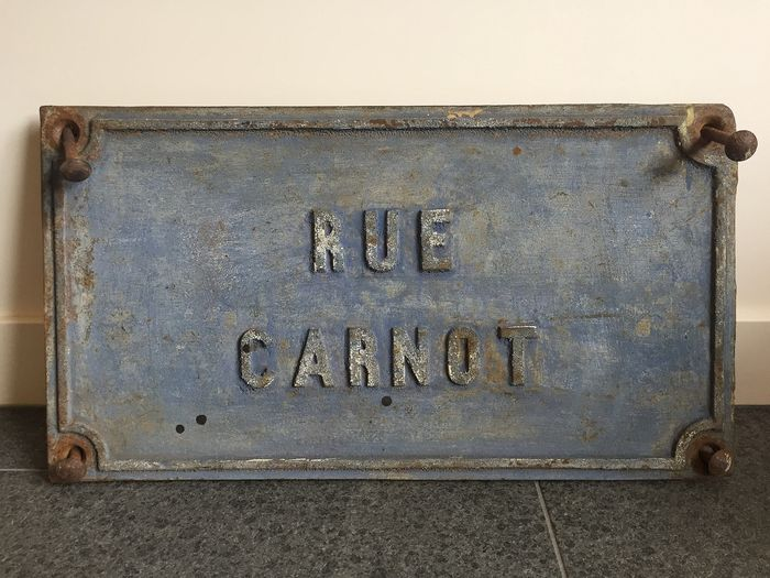 Rue Carnot - Sign - Cast iron