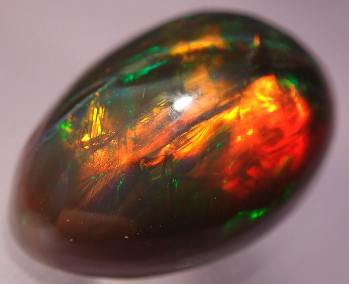 Very Rare Natural Black Opal Cabochons, Untreated 10.10ct - 17.87×12.15×8.09 mm - 2.02 g