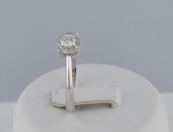 Davite & Delucchi  - 18 kt. White gold - Ring - 0.19 ct Diamond - Diamonds